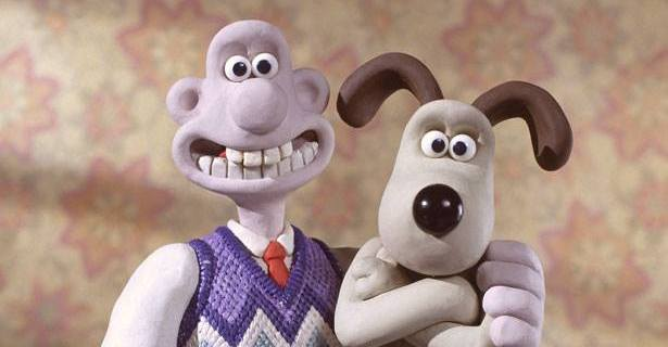 A drawing of the cartoon characters Wallace & Grommit showing Wallace's goofy teeth
