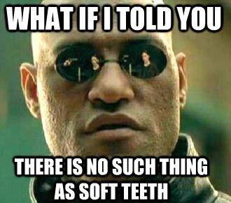 the soft teeth myth