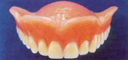 soft liner in a denture