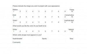 smile design evaluation form